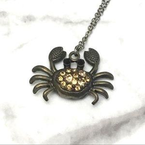 Cancer Crab Chrome Necklace